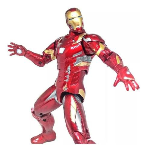 Boneco Action Figure Homem De Ferro Iron Man Articulado