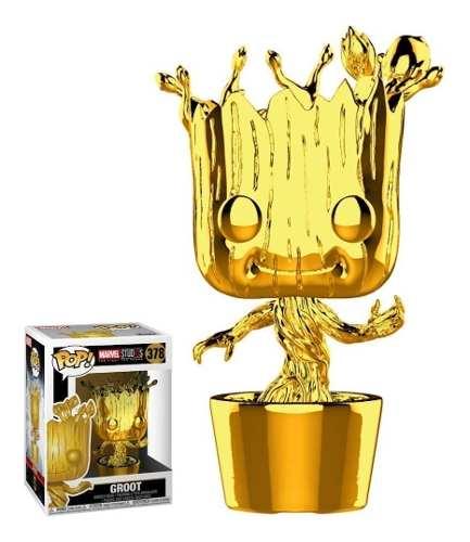 Funko Pop! Marvel Studio's 10th Ann. - Dancing Groot Chrome