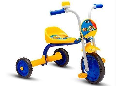 Bicicleta Triciclo Infantil Nathor Masculina You 3 Boy Aro 5