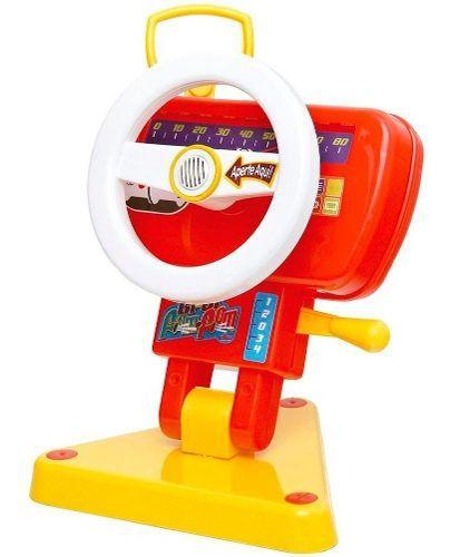 Volante Infantil Bi-bi Fom Fom Bebê C/ Som Buzina Retrovisor