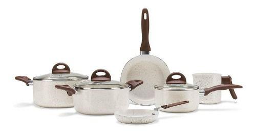 Conjunto De Panelas 6pc Vanilla Ceramic Life Smart+