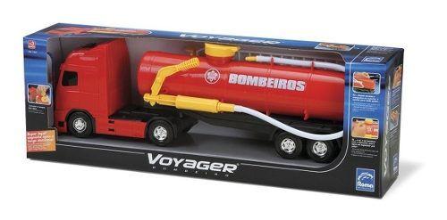 Caminhão Voyager Bombeiro C/ Lança Água - 43cm - Roma