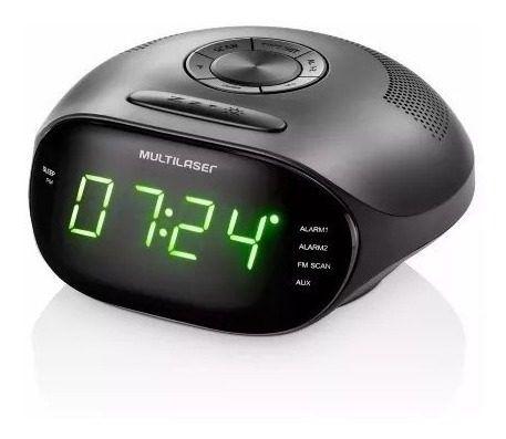 Caixa De Som Portátil Radio Relógio 5w Bivolt C/ Led - Sp202
