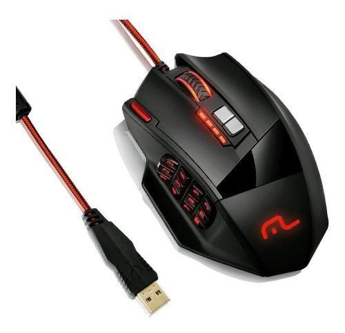 Mouse Gamer Multilaser 18 Botões 4000dpi Usb Mo206