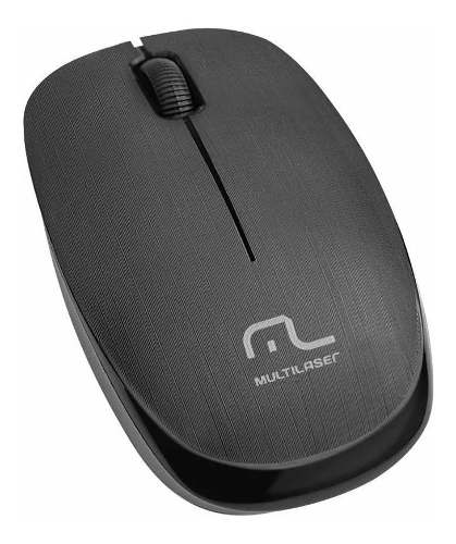 Mouse Sem Fio Multilaser 1200 Dpi 2.4 Ghz Preto Usb Mo251