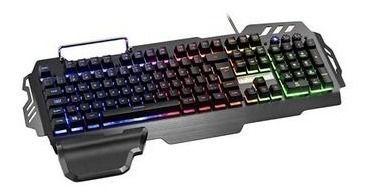 Teclado Gamer Warrior Superfície Em Metal Multilaser Tc210