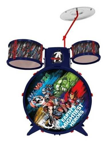 Bateria Musical Infantil Marvel Vingadores Toyng