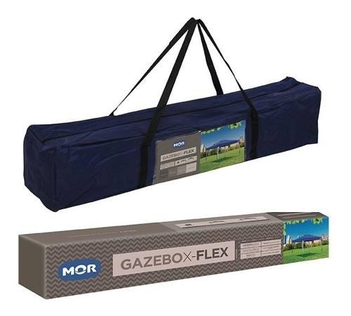 Tenda Gazebo Dobrável Sanfonado Alumínio 3x3 Mor X-flex