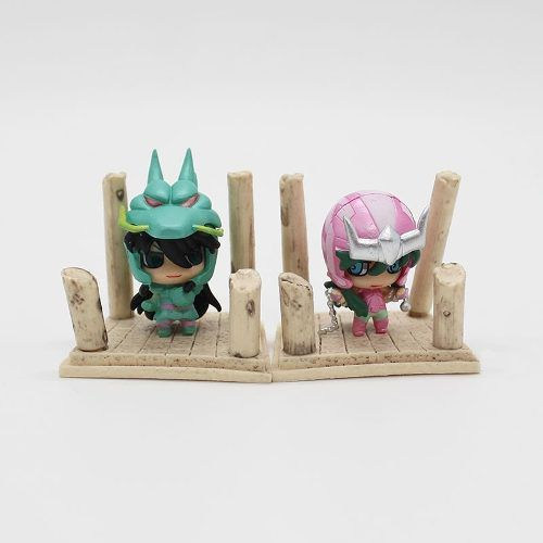 Kit 7 Miniaturas Cavaleiros Do Zodíaco Armadura Set1