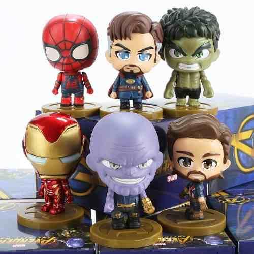 Kit 6 Bonecos Marvel Vingadores Thanos Homen Ferro
