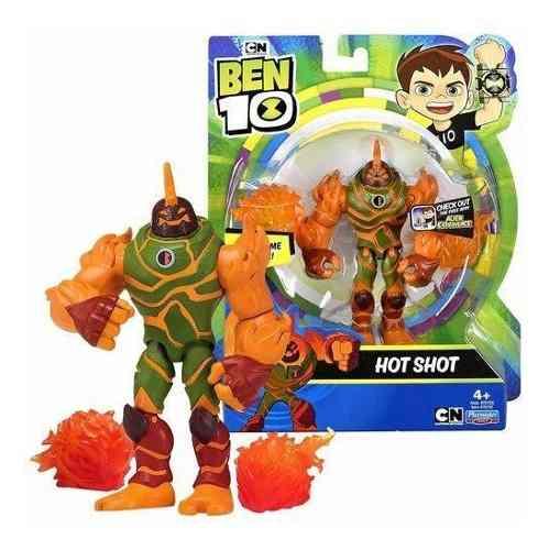 Figuras De Ação Ben 10 - Boneco Hot Shot - Original Sunny
