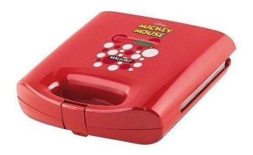 Sanduicheira Grill Elétrico Disney Mickey Mallory 750w