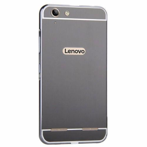 Capinha Case Bumper Metal Espelhada Luxo Lenovo Vibe K5 - Preto