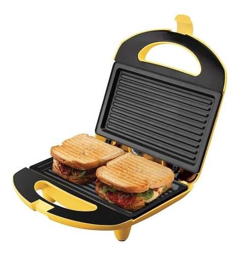 Sanduicheira Mini Grill Cadence Elétrica 750w San234 Amarelo