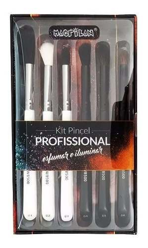 Kit Pincel Profissional Macrilan Esfumar E Iluminar Wb500