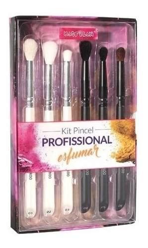 Kit Pincel Profissional Esfumar Macrilan Wb800 Kit Pincel M