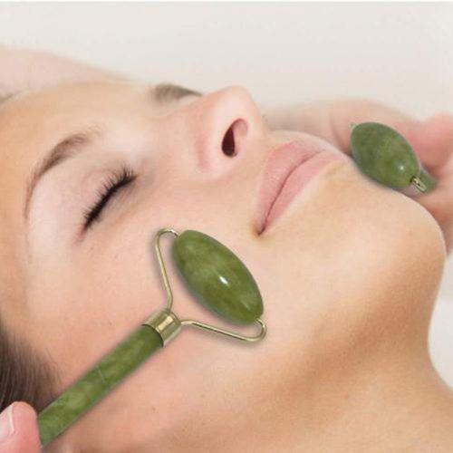 Rolo Massageador Pedra De Jade Anti Rugas Massagem Facial