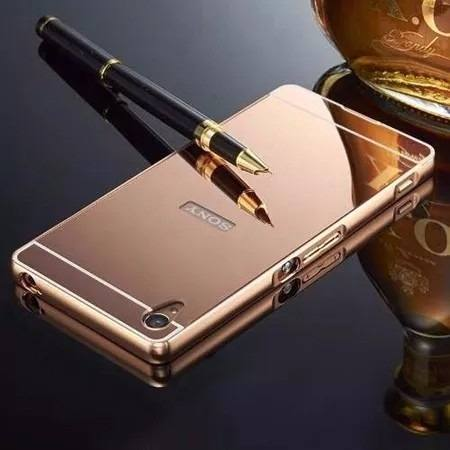 Capinha Bumper Espelhada Luxo Sony Xperia Z3 D6603 D6633 Top