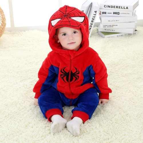 Macacão Pijama Infantil Criança Pelúcia Homem-aranha Spider