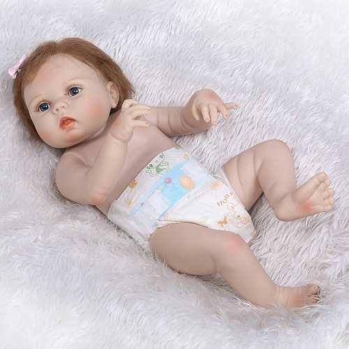 Bebê Reborn Harlow Toda De Vinil Siliconado Original