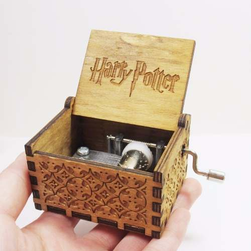 Caixinha Caixa De Música Harry Potter (manivela) Marrom