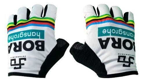 Luva Bike Ciclismo Bora Campeão Barbedo S/ Velcro Meio Dedo