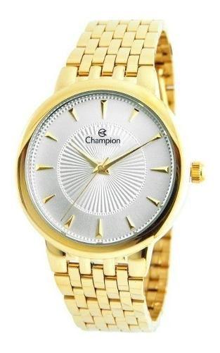 Relógio Champion Masculino Social Dourado Cn20515h