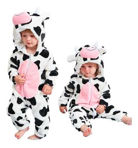 Pijama Kigurumi Macacão Com Touca Do Vaca Vaquinha Parmalat
