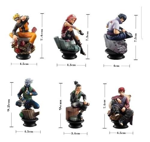 Kit 6 Bonecos Naruto Sasuke Kakashi Gaara Envio Imediato