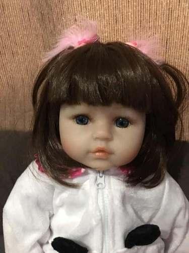 Boneca Bebê Reborn Menina Panda Linda Pronta Entrega