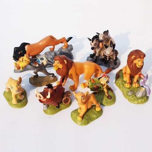 O Rei Leão - Disney Kit Com 9 Peças - Boneco Miniatura