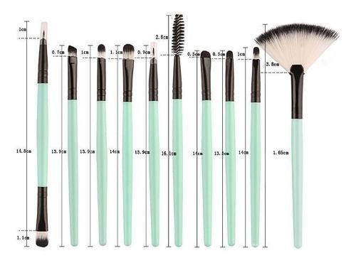 Kit Pinceis Maquiagem Verde Precisao 18 Pcs Pronta Entrega