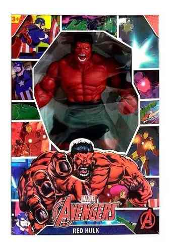 Boneco E Personagem Hulk Vermelho Revolution 50cm