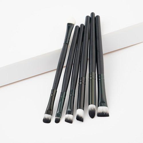Kit 6 Pincéis Pincel Maquiagem Sombra Aplicador Esfumado