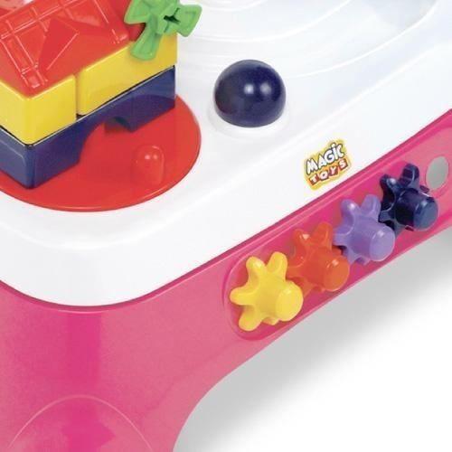 Mesa Infantil Educativa Bebe C/ Som Menina Rosa Magic Toys