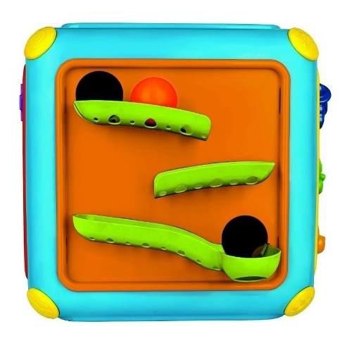 Cubo Gigante Atividades Com Som E Tobogã Magic Toys