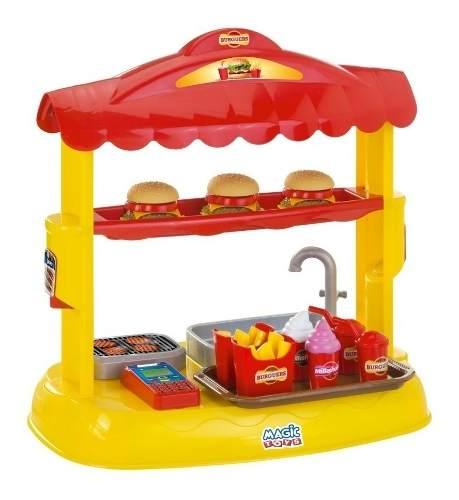 Lanchonete Infantil Hambúrguer Mini Burguers 644 Magic Toys