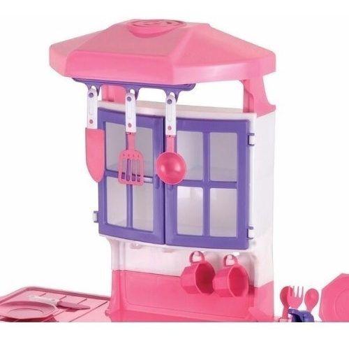 Cozinha De Brinquedo Fogão Infantil Brinquedos Para Menina