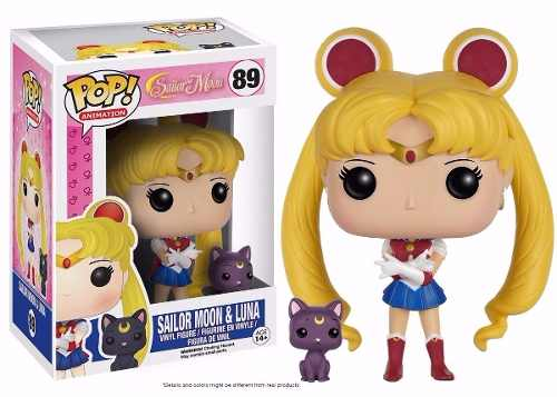 Sailor Moon Boneco Pop Funko Sailor Moon E Luna #89