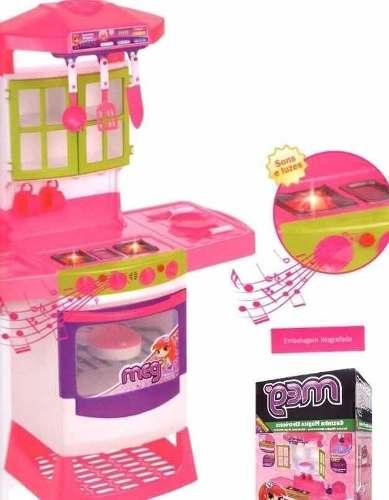 Cozinha Infantil Mágica Eletrônica Super Magic Toys 8019