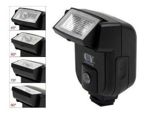 Flash Simples Universal Cy20 Cy-20 Câmera Canon Nikon