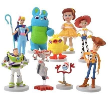 Kit Bonecos Toy Story 4 Woody, Buzz, Garfinho Conjunto
