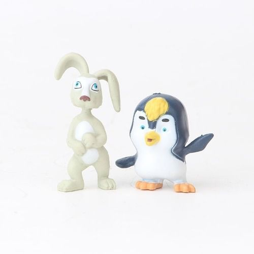Kit 10 Personagens Masha E Urso Pinguim Miniaturas
