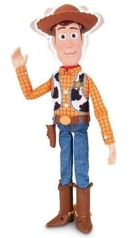 Boneco Xerife Woody Toy Story 38cm Disney Store Fala Inglês