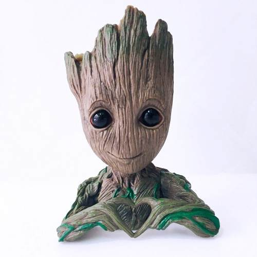 Baby Groot Vaso Porta Objetos Marvel 15cm - Igual O Da Foto!