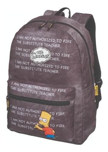 Mochila Escolar The Simpsons Bart Chalkboard 7403804