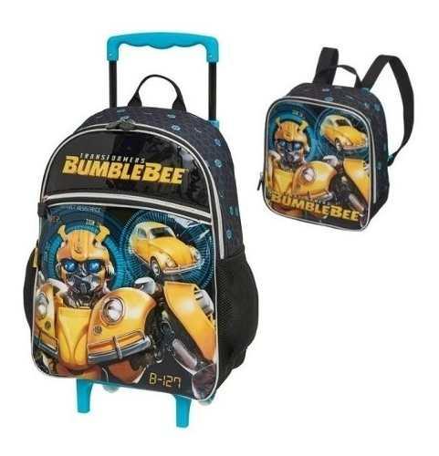 Mochila De Rodinha Transformers Bumblebee Com Lancheira