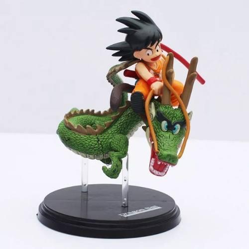 Dragon Ball Z Super Goku Criança Montado Shenlong Action Fig