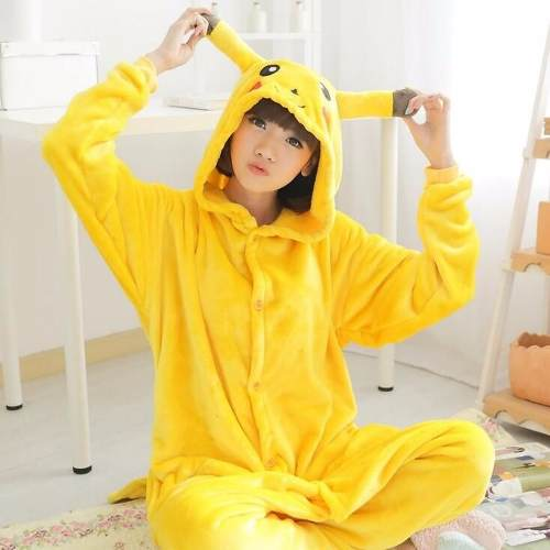 Fantasia Pijama Pokemon Pikachu Cosplay Picachu Fa020
