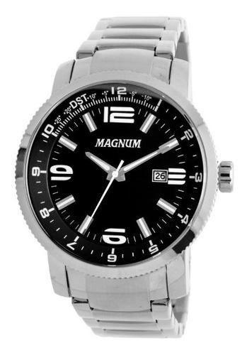 Relógio Masculino Prata Prateado Magnum Ma33095t Original